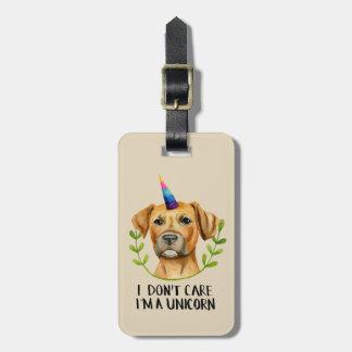 """Étiquette À Bagage """"Je suis illustration de chien de pitbull D'UNE"""
