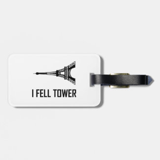 Étiquette À Bagage Je suis tombé Tour Eiffel