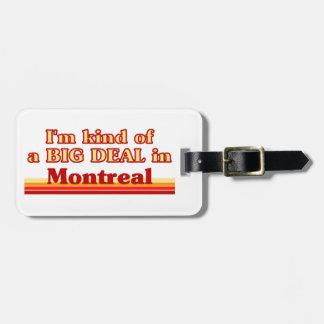 Étiquette À Bagage Je suis un peu une affaire à Montréal