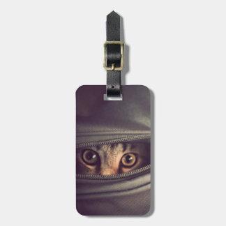 Étiquette À Bagage Jeune chaton tigré