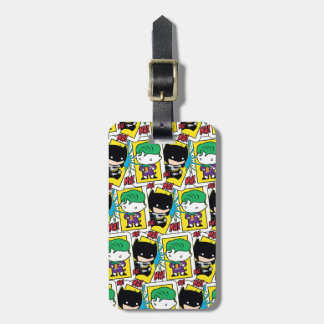 Étiquette À Bagage Joker de Chibi et motif de carte de jeu de Batman