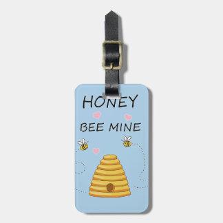 Étiquette À Bagage Jour de Valentines de mine d'abeille