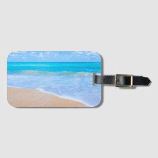 Étiquette À Bagage Jours tropicaux de plage. Vacances au paradis