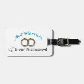Étiquette À Bagage Juste marié