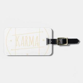 Étiquette À Bagage Karma (pour l'arrière - plan foncé)