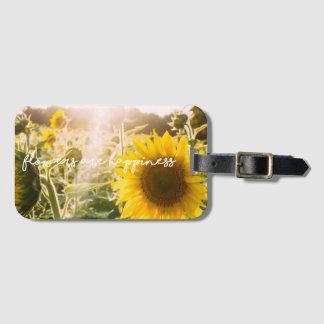 """Étiquette À Bagage La citation """"fleurs de tournesol sont bonheur """""""