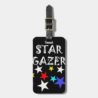 Étiquette À Bagage La conception d'étoile de curieux de l'amant frais