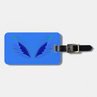 Étiquette À Bagage La conception s'envole l'ethno bleu