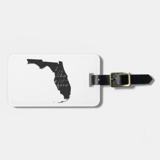 Étiquette À Bagage La Floride I l'aiment énoncent ici le noir de