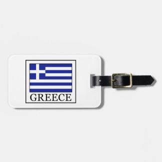 Étiquette À Bagage La Grèce