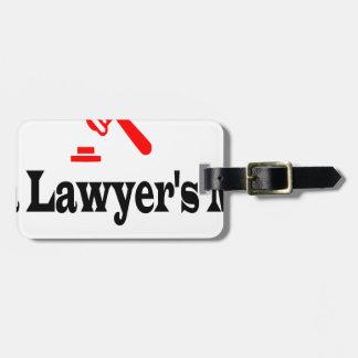 Étiquette À Bagage La maman de l'avocat