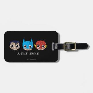 Étiquette À Bagage La mini ligue de justice dirige le croquis