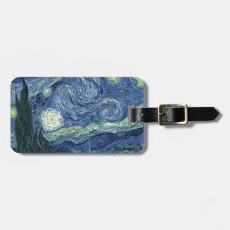 Étiquette À Bagage La Nuit Etoilée de Van Gogh (The Starry Night)