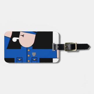 Étiquette À Bagage La police équipe