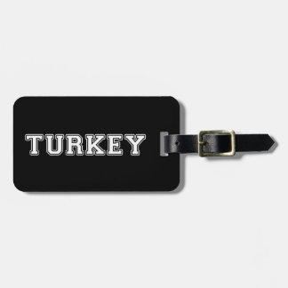 Étiquette À Bagage La Turquie