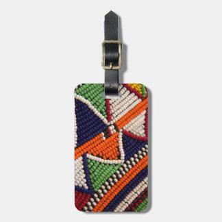 Étiquette À Bagage L'Afrique, Kenya. Perles de tribal de Maasai