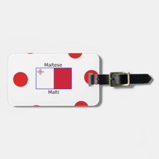 Étiquette À Bagage Langue (de Malti) et conception maltaises de