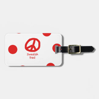 Étiquette À Bagage Langue et conception suédoises de symbole de paix