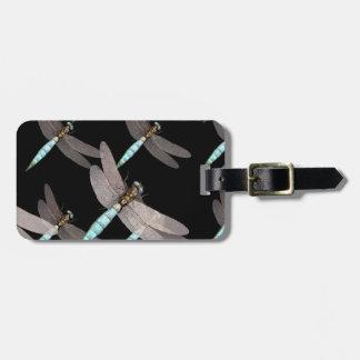 Étiquette À Bagage L'Armée de l'Air de libellule sur le noir