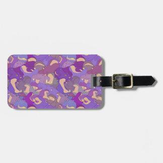 Étiquette À Bagage Laughing Hippos - purple