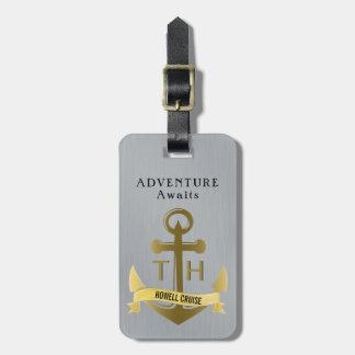 Étiquette À Bagage L'aventure attend des vacances nautiques de