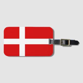 Étiquette À Bagage Le bagage danois de drapeau étiquette pour des