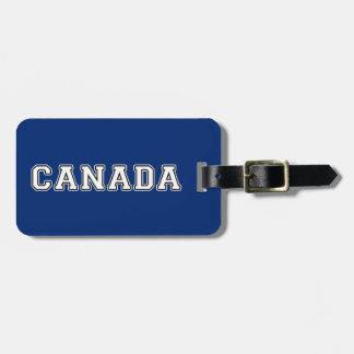 Étiquette À Bagage Le Canada