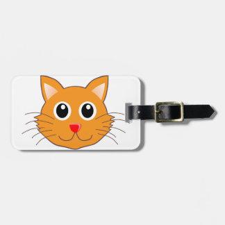 Étiquette À Bagage Le chat orange au nez rouge