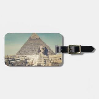 Étiquette À Bagage Le grand sphinx de Gizeh