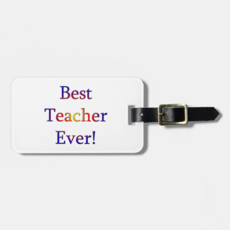 Étiquette À Bagage Le meilleur professeur jamais