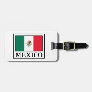 Étiquette À Bagage Le Mexique