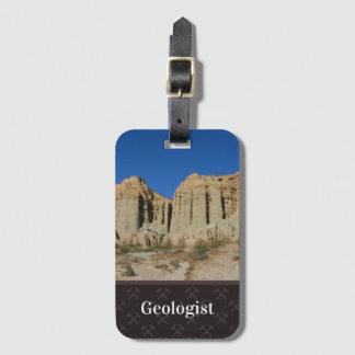 Étiquette À Bagage Le nom et le modèle photo du géologue