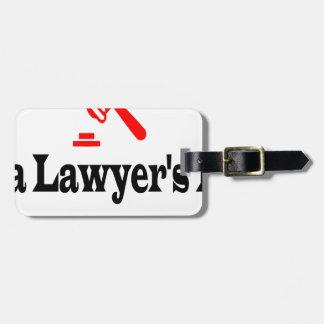 Étiquette À Bagage Le papa de l'avocat