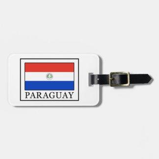 Étiquette À Bagage Le Paraguay