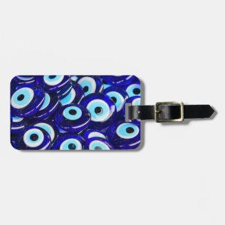 Étiquette À Bagage Le souvenir bleu d'oeil mauvais s'est vendu à