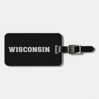 Étiquette À Bagage Le Wisconsin