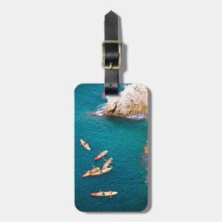 Étiquette À Bagage L'eau bleue Kayaking
