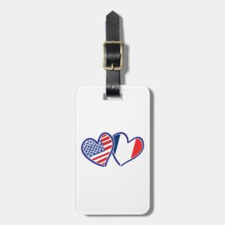 Étiquette À Bagage LES Etats-Unis---France-Amour