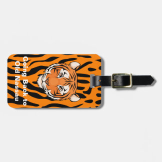 Étiquette À Bagage Les tigres montrent toujours leurs rayures -