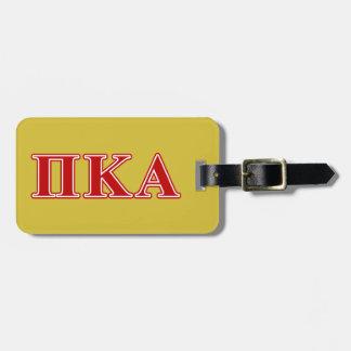 Étiquette À Bagage Lettres rouges de Kappa de pi alpha