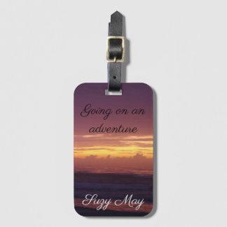 Étiquette À Bagage Lever de soleil dramatique de plage