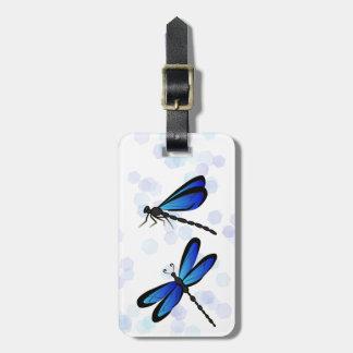 Étiquette À Bagage libellules bleues - étiquette de bagage