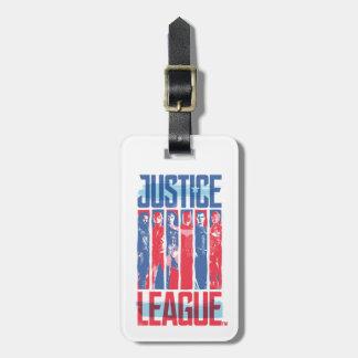 Étiquette À Bagage Ligue de justice art bleu et rouge de | de groupe