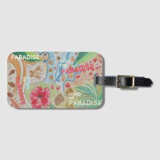 Étiquette À Bagage Limite pour le paradis