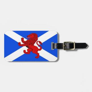 Étiquette À Bagage Lion effréné de l'Ecosse/emblème drapeau de St