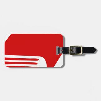 Étiquette À Bagage Livre rouge