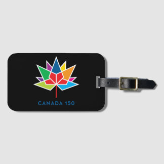 Étiquette À Bagage Logo de fonctionnaire du Canada 150 - multicolore
