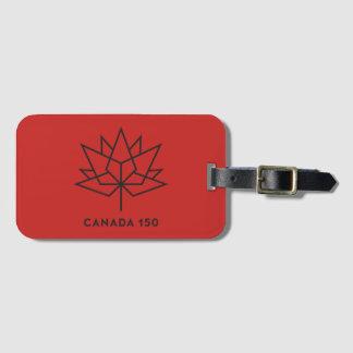 Étiquette À Bagage Logo de fonctionnaire du Canada 150 - rouge et