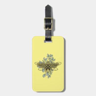 Étiquette À Bagage Logo de reine des abeilles de femme de merveille
