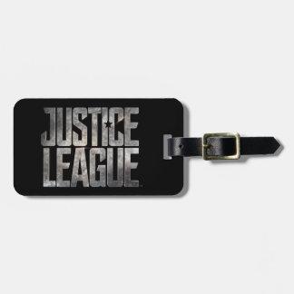 Étiquette À Bagage Logo métallique de ligue de justice de la ligue de